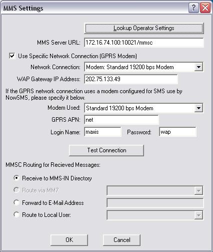MMS settings