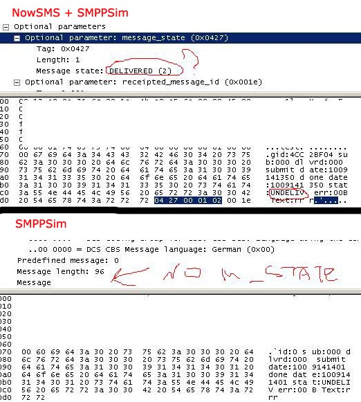 Screen from wireshark
