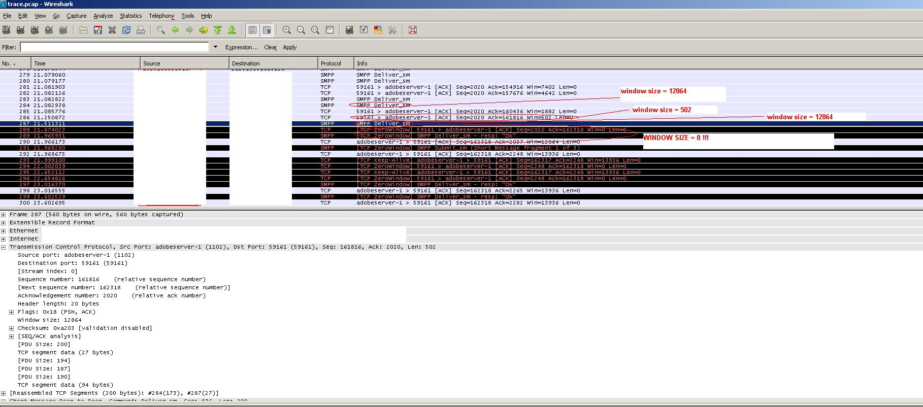 screenshot of dump